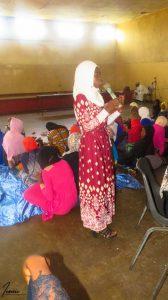 Nsamila addressing the students